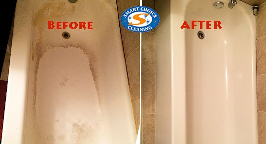 Tub Cleanup Before & After