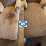Alexandria VA Home Getting An Upholstery Cleaning Service
